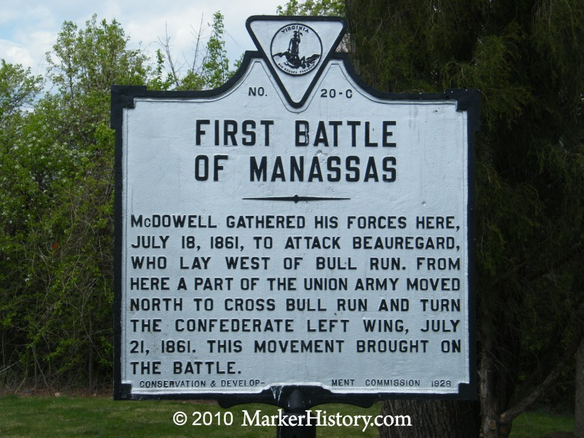 the history of the first battle of manassas An eyewitness account of the first major battle of the civil war.