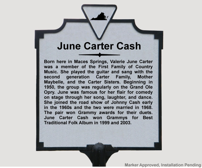June Carter Cash Ka 18 A Marker History