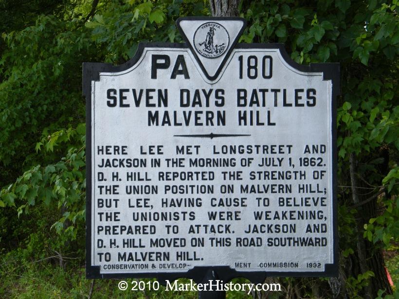 seven days battle location seven days battles malvern
