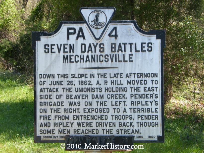 seven days battle location seven days