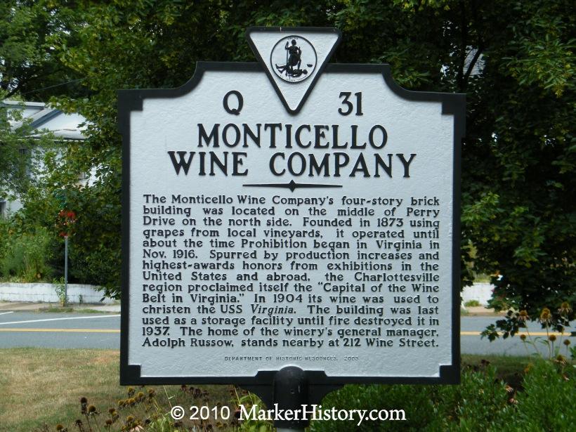 Monticello Wine Company Marker Q 31