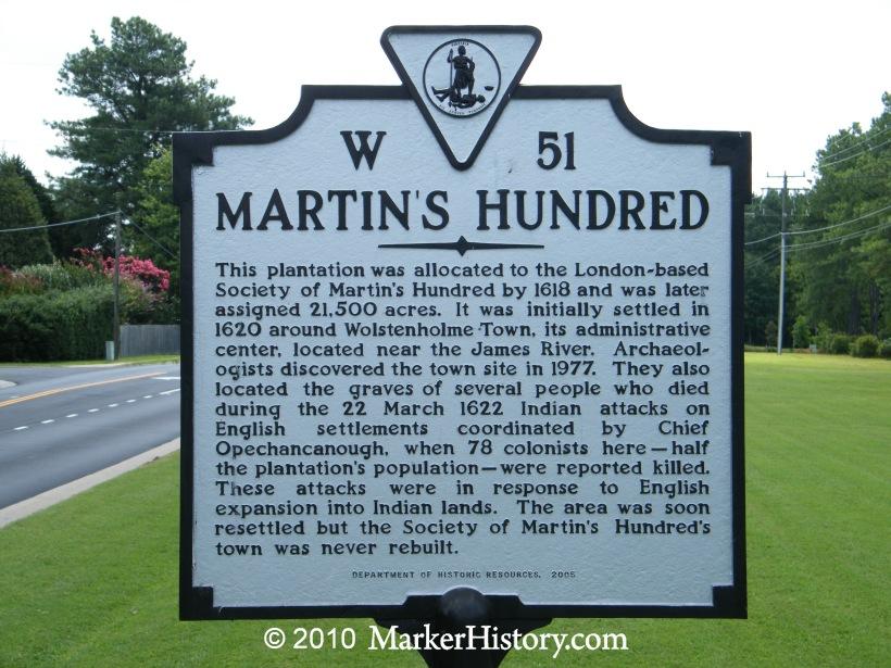Image result for Martin's Hundred