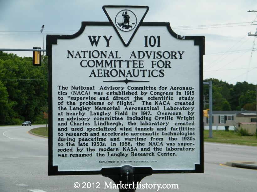 National Advisory Committee for Aeronautics Marker, WY-101